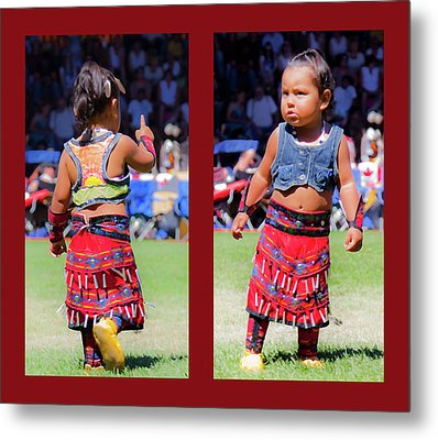 Tiny Jingle Dancer Metal Print by Theresa Tahara