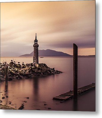 Tiny Lighthouse Metal Print by Tony Locke