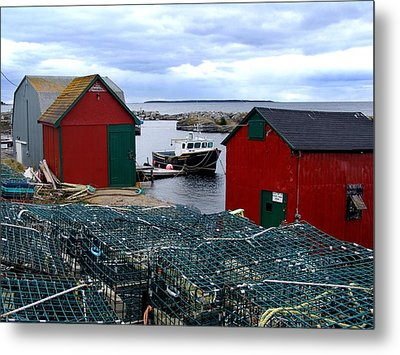 Tiny Little Harbour Metal Print by Janet Ashworth