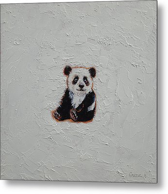 Tiny Panda Metal Print by Michael Creese