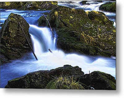 Metal Print featuring the photograph Tiny Water Fall by Timothy Latta