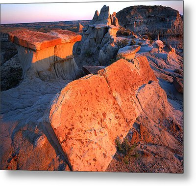 Tipped Over Table Metal Print by Ray Mathis