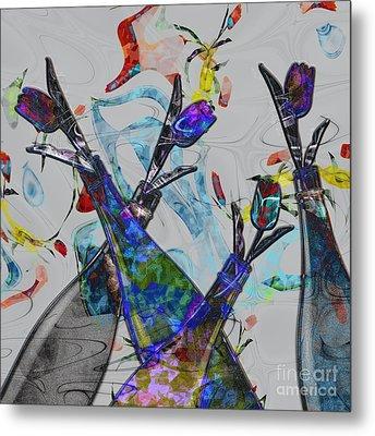 Tippy Tulips Metal Print by Liane Wright