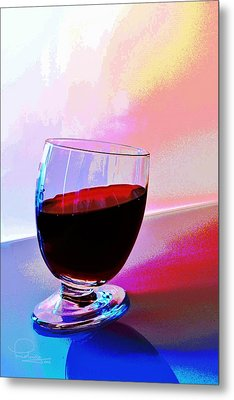 Metal Print featuring the photograph Tipsy by Ludwig Keck