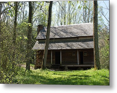 Tipton Place In Cades Cove Metal Print by Roger Potts