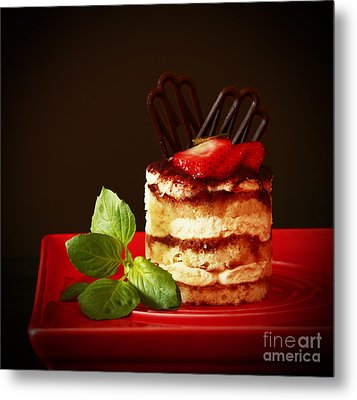 Tiramisu Dessert Passion Metal Print by Inspired Nature Photography Fine Art Photography
