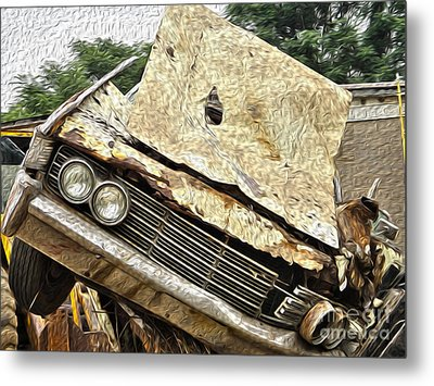 Tired And Broken Metal Print
