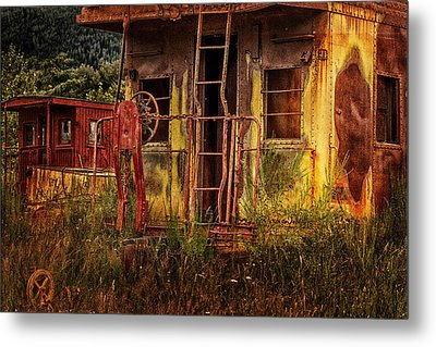 Tired Caboose Metal Print by Mary Jo Allen