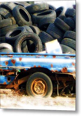 Tires Metal Print