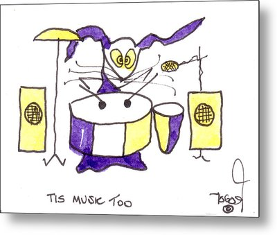 Tis Music Too - Ringo - Beatles Metal Print by Tis Art