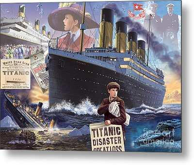 Titanic - Landscape Metal Print by MGL Meiklejohn Graphics Licensing
