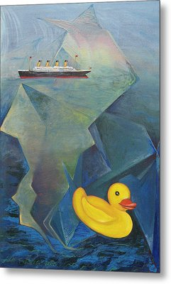 Titanic And The Ducky Metal Print