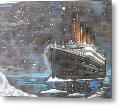 Metal Print featuring the painting Titanic Heading To Disaster by Vikram Singh