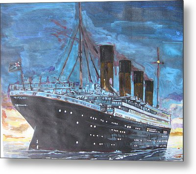 Titanic Into The Sunset Metal Print by Vikram Singh
