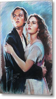 Titanic Jack And Rose Metal Print by Viola El