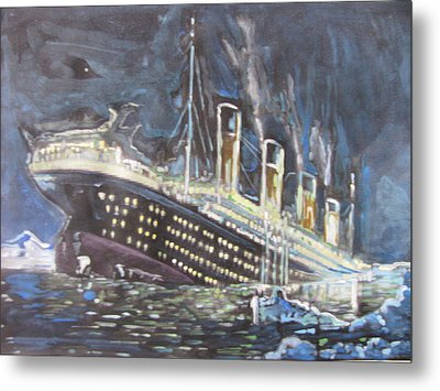 Metal Print featuring the painting Titanic Sinking by Vikram Singh