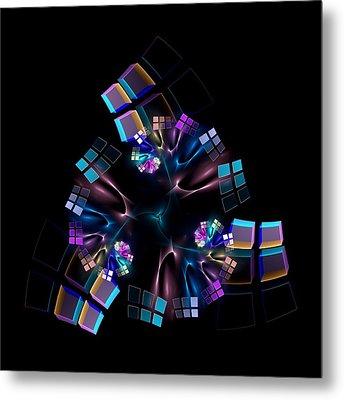 Titanium Crystals Metal Print by Lea Wiggins