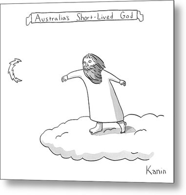 Title: Australia's Short-lived God. A God Throws Metal Print by Zachary Kanin