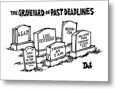 Title: Graveyard Of Past Deadlines.  A Graveyard Metal Print