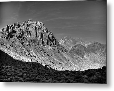 Titus Canyon Peak Metal Print by Peter Tellone