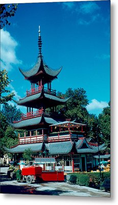 Tivoli Pagoda 1953 Metal Print by Cumberland Warden