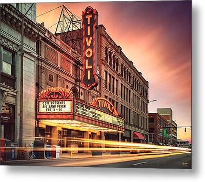 Tivoli Theatre Valentines Day Sunset Metal Print