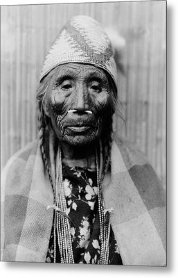 Tlakluit Indian Woman Circa 1910 Metal Print