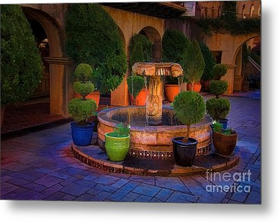 Tlaquepaque Fountain Metal Print by Jon Burch Photography