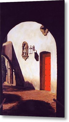 Metal Print featuring the painting Tlaquepaque by Rick Fitzsimons