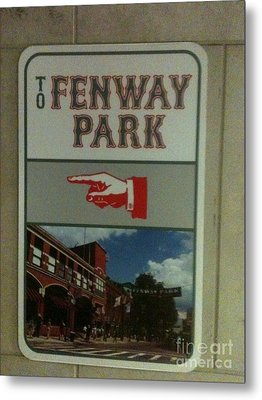 To Fenway Park Metal Print