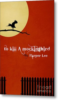 To Kill A Mockingbird Book Cover Movie Poster Art 2 Metal Print by Nishanth Gopinathan