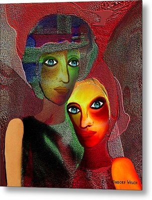 002 - To Lean On    Metal Print by Irmgard Schoendorf Welch