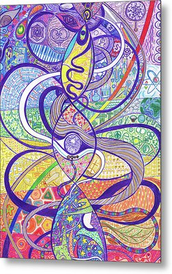 To See A World In A Dna Strand Metal Print by Ty DAvila