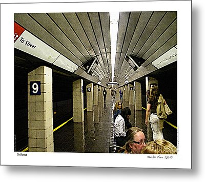 Metal Print featuring the photograph To Street by Kenneth De Tore