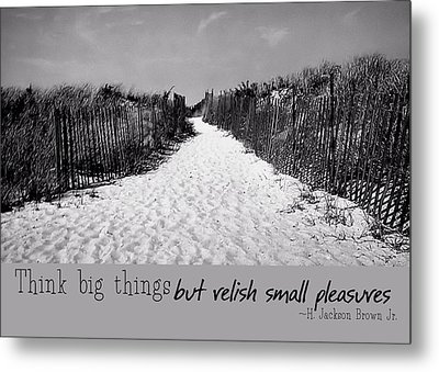 To The Beach Quote Metal Print by JAMART Photography