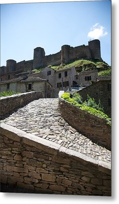 To The Castle Above Metal Print by Lee Stickels