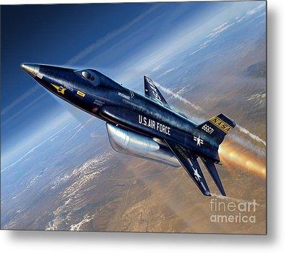 To The Edge Of Space - The X-15 Metal Print by Stu Shepherd