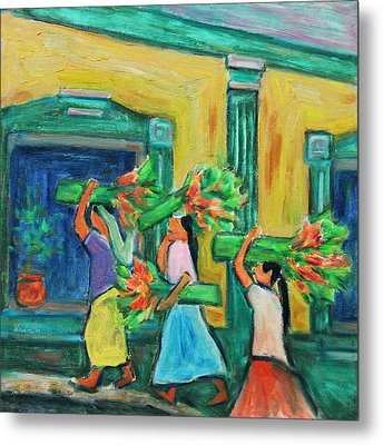 To The Morning Market Metal Print by Xueling Zou