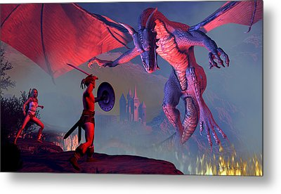 To Tip The Scales Metal Print by Dieter Carlton