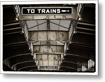 To Trains Metal Print by John Rizzuto