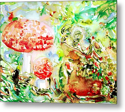 Toad And Mushroom.2 Metal Print by Fabrizio Cassetta