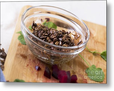 Toasted Sunflower Seeds Metal Print