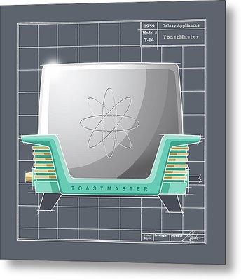 Toastmaster - Aqua Metal Print