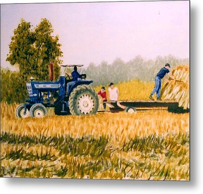 Tobacco Farmers Metal Print by Stacy C Bottoms