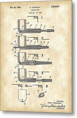 Tobacco Pipe Patent 1944 - Vintage Metal Print