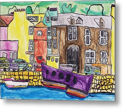 Metal Print featuring the painting Tobermory by Artists With Autism Inc
