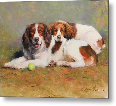 Toby And Ellie Mae Metal Print by Anna Rose Bain