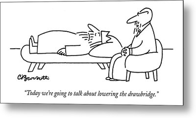 Today We're Going To Talk About Lowering Metal Print by Charles Barsotti