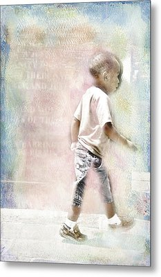 Metal Print featuring the digital art Toddler On The Prowl by Davina Washington