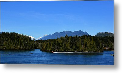 Tofino Bc Clayoquot Sound Browning Passage Metal Print by Lawrence Christopher